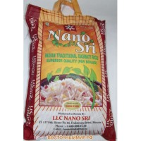 Рис Нано Шри Басмати, 5 кг (в синем мешке) (Nano Sri Indian Basmati Raw Rice)